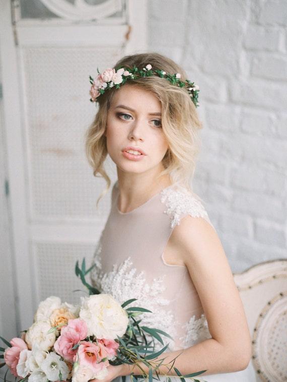 Wedding Flower Crown Suppliers : Bridal floral crown flower wedding