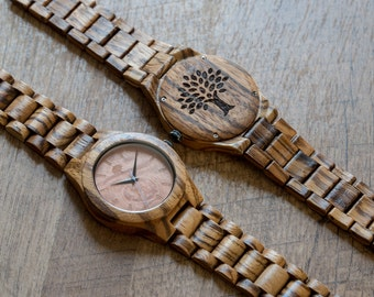 Wood Watch, clock, watch, Wooden watch,mens watch, clock, birthday gift,  Fathers day, groomsmen gift, groom,gift, anniversary, BSMW