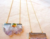 Authentic Amethyst Crystal Necklace, raw amethyst necklace layering necklace Valentines gift for women for girlfriend New Years necklace
