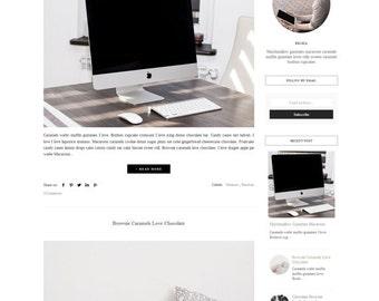 Responsive Premade Blogger Template - Minimalist Design - Photography Blog - Simple Clean Blog -Theme Blogspot