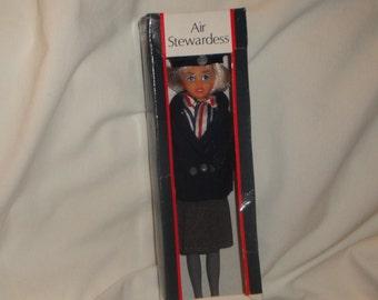 Vintage British Airways Air Stewardess Doll By Rexard Doll In Original Box