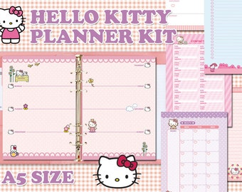 Hello Kitty printable planner kit - A5 size