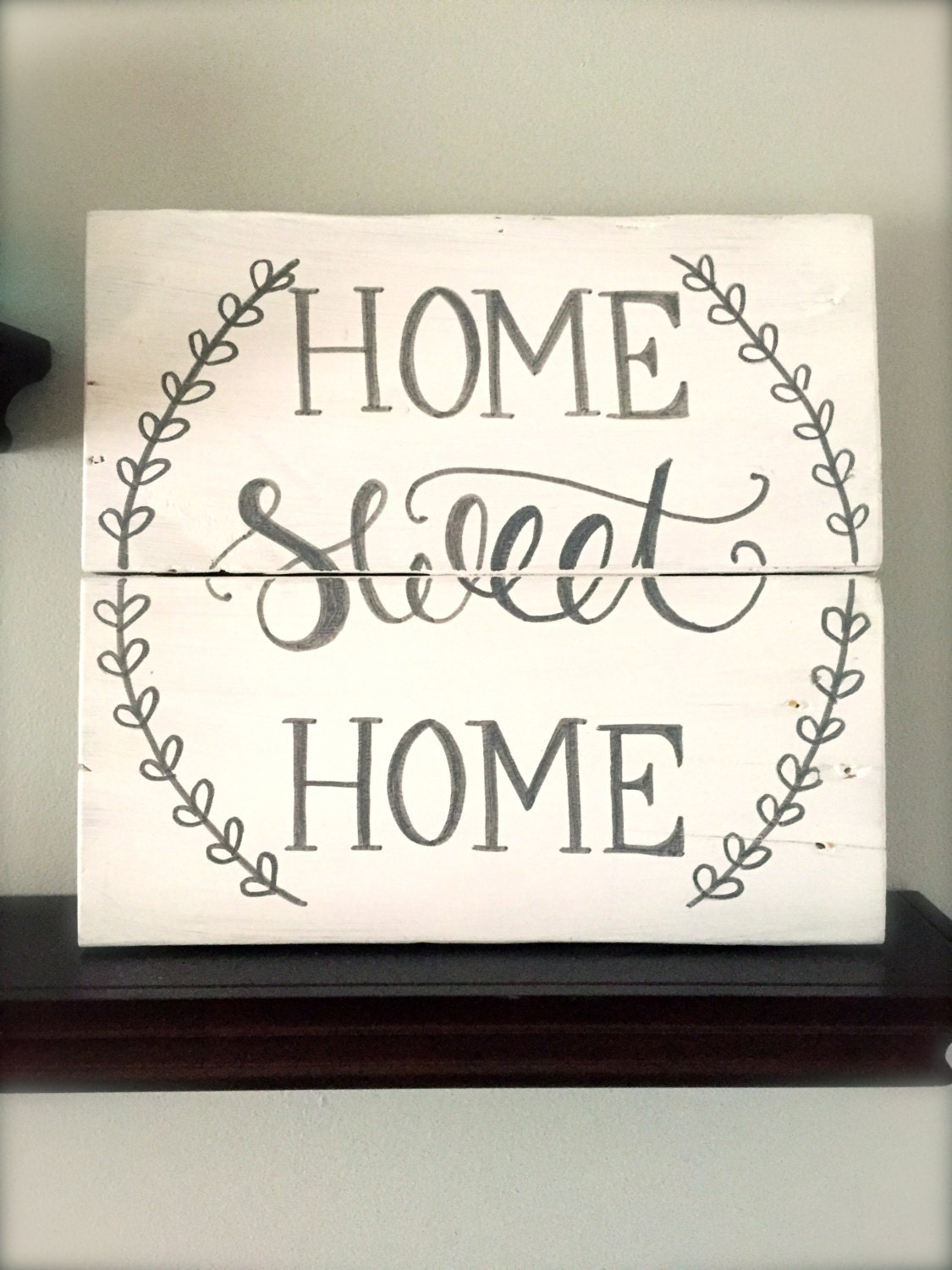 rustic home decor home sweet home sign rustic pallet sign. Black Bedroom Furniture Sets. Home Design Ideas