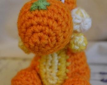 Yarn Yoshi Citrus amigurumi plushie