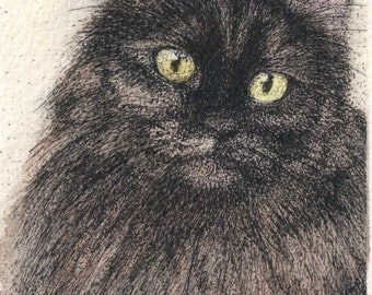 ACEO Fleur Tortie Cat ATC