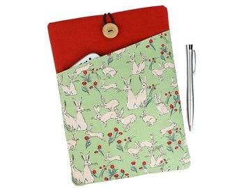 iPad Pro 9.7 case, iPad Air 2 cover, iPad mini case, iPad Air 2 case, iPad Pro sleeve, iPad Air cover, iPad mini 4, Womens gift, Rabbits