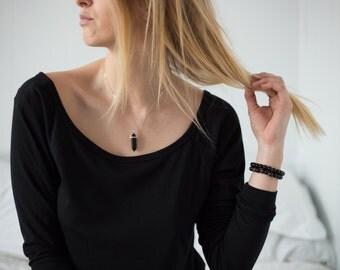 Quartz Pendant, Short Necklace