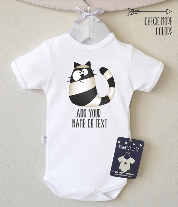Crazy Cat Baby Clothes Personalized Baby by