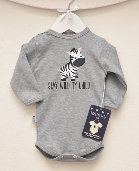 Zebra Baby Clothes Animal Baby Bodysuit by LittlePrincessTara