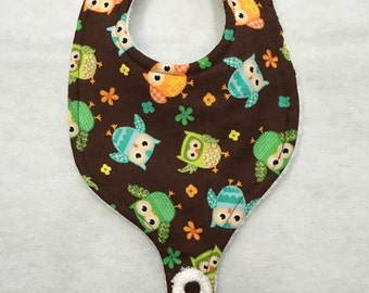 Baby Bib with pacifier holder 0-6 month old