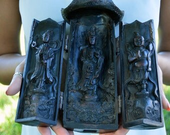 Traveling Shrine Altar from Tibet with Kuan Yin