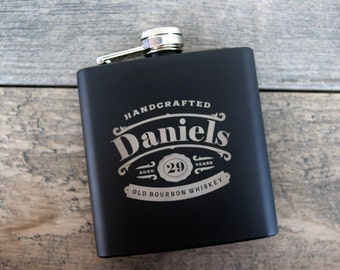 Personalized Laser Engraved Flask In Various Colors Including Camouflaged