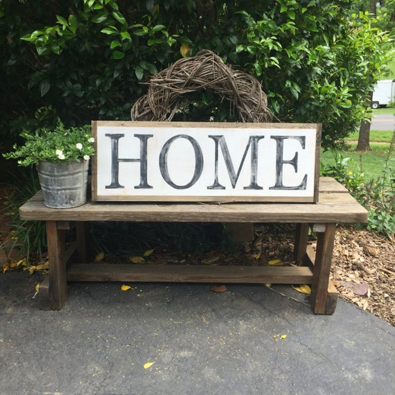 home wooden sign large sign farmhouse decor hand painted