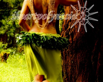 Ti leaf hip belt Hula or Tahitian dance costume