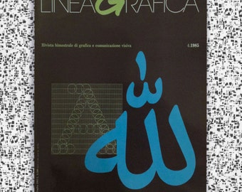 LineaGrafica, Italian Magazine of Graphics + Visual Communications, No. 4.1985 July, Back Issue, Vintage, Graphic Design, Typography