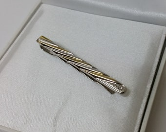 Noble 925 Stickpin partly gold plated Crystal SB253