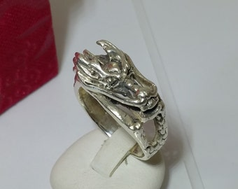 Old dragon ring 925 Silver ring Dragon SR261