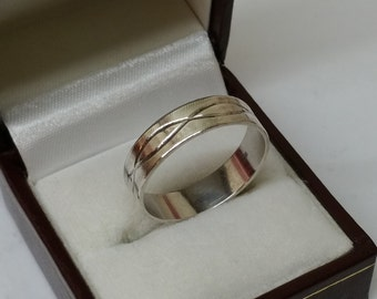 Silver ring 925 friendship ring wide 21.4 SR198