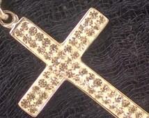 Handmade Swarovski Stone Solid 925 Sterling Silver Pendant Cross Silver Cross Necklace Cross Necklace Women Silver Cross Necklace Sterling