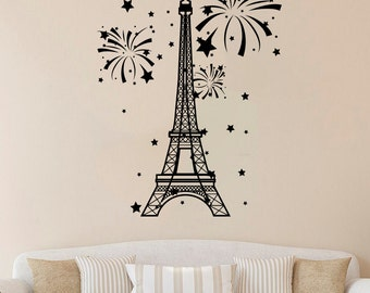 Eiffel Tower Vinyl Decal Paris Tower Wall Sticker Paris Decals Wall Vinyl Decor /2hmy/