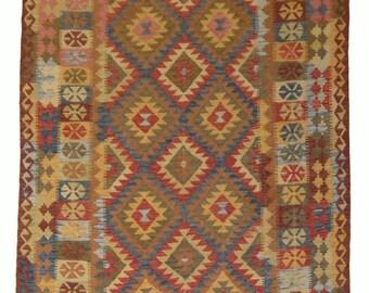 Handmade Afghan Kilim 242 cm x 174 cm (14357)