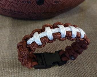 Football Themed Paracord  Bracelet