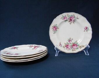 Vintage J & G Meakin Tea Plates Set of Five  #00038