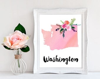 Washington print Washington map Washington State Art Washington State Map Washington State Wall art Washington State Print Washington art