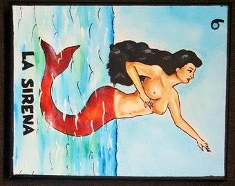 La Sirena Hand Painted