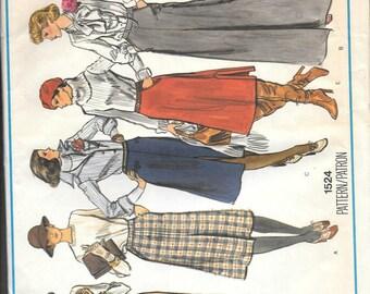 Vintage Vogue's Basic Design Sewing Pattern 1524 Uncut Size 26.5 Misses Skirts