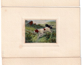 Three antique illustrated postcards published by M.M. Vienne