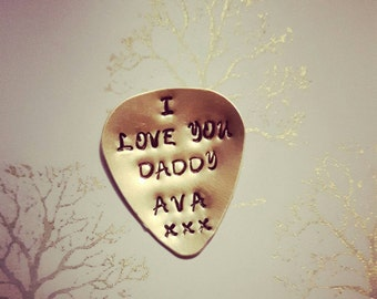 Fathers gift, male birthday, Guitar plectrum, Daddy gift, gift for dad, male gift, music lover, guitar pick, birthday present for him