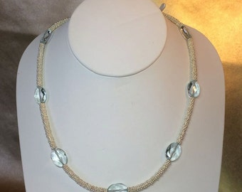 Aquamarine & Silver Necklace