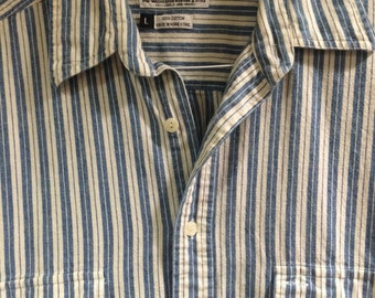 Vintage Men's Striped oxford shirt!! - mens large