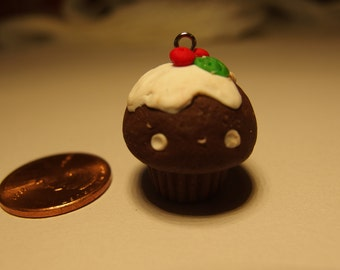 Polymer clay chocolate cupcake with frosting
