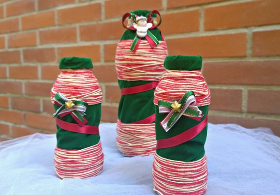 Decorating Ideas > Items Similar To Christmas Decorative Plastic Bottles, Set  ~ 195317_Christmas Decoration Ideas Made Of Plastic Bottles