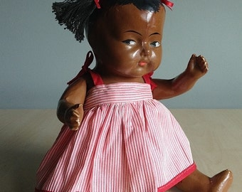 Composition African American Baby Doll 1940s