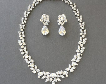 Cubic Zirconia Jewelry Set Wedding Necklace Set Bridal Jewelry Wedding Accessories