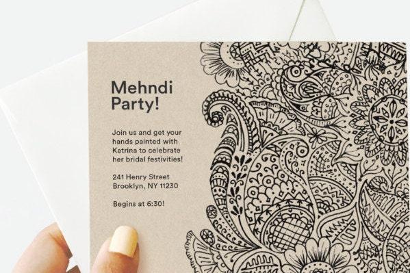 Mehndi Party Evite : Mehndi henna party invitation by bybadal on etsy