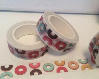 Rainbow Donut Doughnut Washi Tape