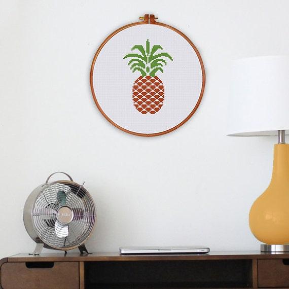 ananas de croix au point de mod le au point de croix moderne. Black Bedroom Furniture Sets. Home Design Ideas