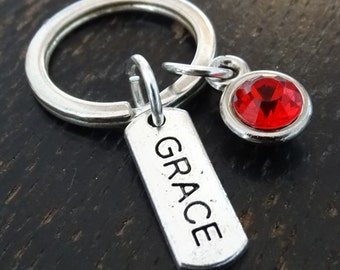 Grace Keychain, Custom Keychain, Custom Key Ring, Grace Charm, Grace Pendant, Grace Jewelry, Grace Personalized, Amazing Grace, Spiritual