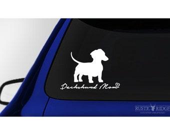 Dachshund Mom, Dachshund Dog Car Window Decal Sticker