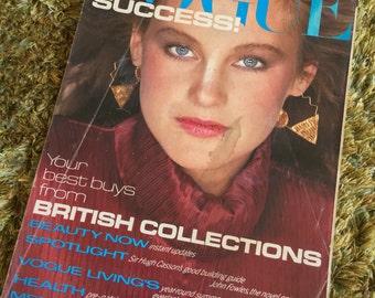 UK Vogue September 1980 Vintage Magazine / Number 2199 / Volume 137