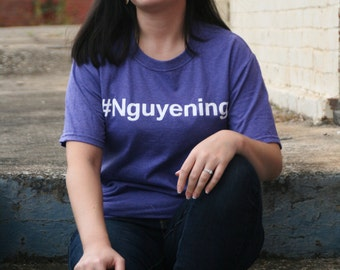 Nguyening #Nguyening (winning) Vietnamese Funny Asian Hashtag Short Sleeve T-shirt
