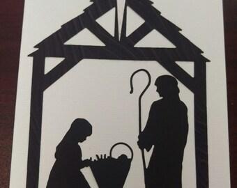 Christmas #3 Manger Scene Christmas Card