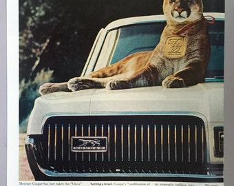 1967 Ford Mercury Cougar Double Page Print Ad - Car of the Year