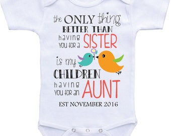 Pregnancy announcement to aunt to be gift pregnancy reveal to aunt baby announcement gift baby reveal ideas new aunt gift baby reveal shirt