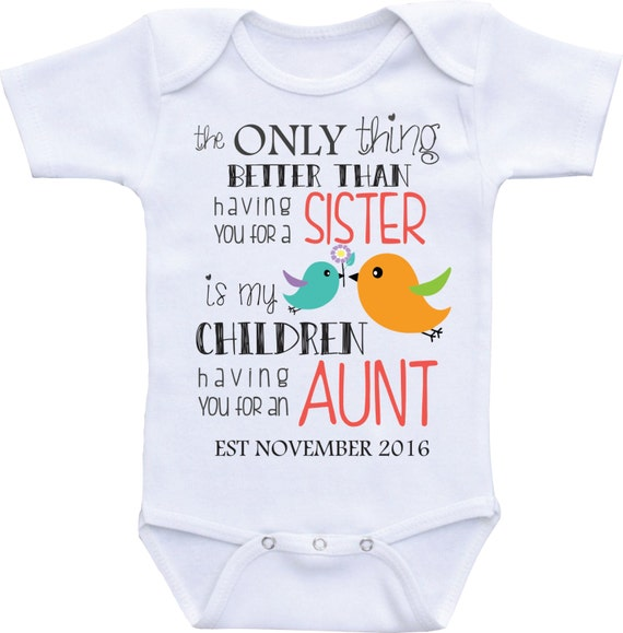 Baby Gift Ideas From Uncle : Pregnancy announcement to aunt be gift reveal