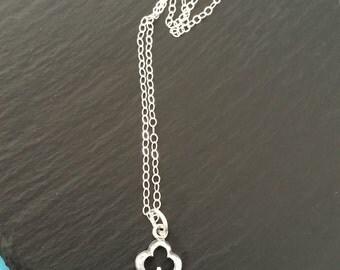 Sterling Silver Unlock My Heart Key Charm Necklace